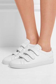 Common Projects - Achilles Three Strap Leather Sneakers - White - IT41