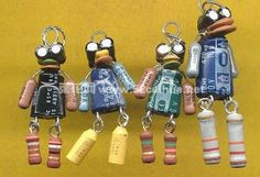 hand-made DIY: Jewelry made of electronic components