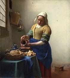 Second Grade - Jan Vermeer, The Milkmaid, 1657-58