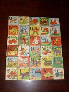 ALPHABET BLOCKS Cubes Alphabetiques  Set of 5 by Papeteriedeparis, $27.00