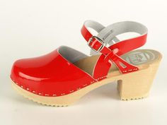 Another red clog, I know it, but this one is almost perfect.