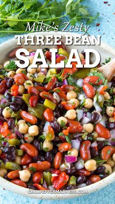 Side Salad Recipes, Vegetarian Salad Recipes, Side Dish Recipes, Vegetarian Dish, Mixed Bean Salad Recipes, Vegetable Salad Recipes, Summer Salad Recipes, Healthy Beans, Healthy Bean Salads