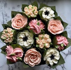 2 or Floral, Succulent or Floral/Succulent combo? Vegan Wedding Cake, Fall Wedding Cakes, Wedding Cakes With Flowers, Wedding Cake Designs, Wedding Cupcakes, Wedding Cake Toppers, Mothers Day Cakes Designs, Mothers Day Cupcakes, Cupcake Flower Bouquets