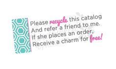 Origami Owl  Inspired Recycle Catalog label by HandpickedbyHeather, $3.50