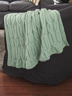Cable Vine Blanket   Yarn   Free Knitting Patterns   Crochet Patterns   Yarnspirations