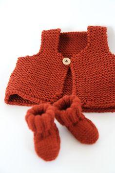 les tricots de Granny - Gilet de berger naissance création Granny©