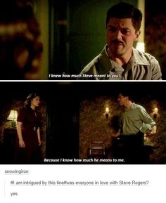 Image discovered by Brianna Heart. Find images and videos about captain america, howard stark and peggt carter on We Heart It - the app to get lost in what you love. Marvel Universe, Marvel Funny, Marvel Memes, Marvel Dc Comics, Agent Carter, Dc Memes, Fandoms, Bucky Barnes, The Villain