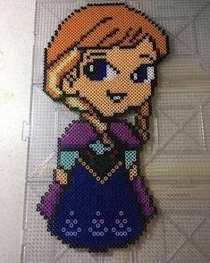 Princess Anna - Frozen perler beads by perlinthesprites_byliz