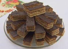 Zserbó | Gasztroangyal Hungarian Cake, Hungarian Recipes, Good Food, Yummy Food, Chocolate, Winter Food, Christmas Baking, Food Hacks, Sweet Recipes