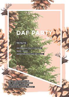 Poster // ULB (Université Libre de Bruxelles) Daf Party on Behance