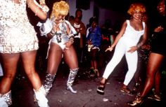 "Dancehall Queens, House Of Leo, Kingston Jamaica, Circa 1993. <a class=""pintag searchlink"" data-query=""%23JamaicaDancehall"" data-type=""hashtag"" href=""/search/?q=%23JamaicaDancehall&rs=hashtag"" rel=""nofollow"" title=""#JamaicaDancehall search Pinterest"">#JamaicaDancehall</a> Photo © Wayne Tippetts"