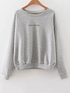 Raglan Sleeve Lettering Sweatshirt