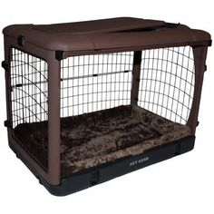 The Other Door Chocolate Steel Dog Crate – Bark Label