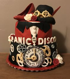 Panic! At the Disco cake Made for my daughters 13 birthday! She's a huge fan! We came up with the idea together!