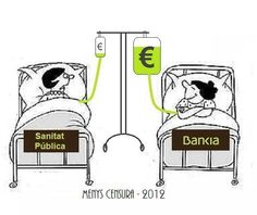 transfusió financera:  sanitat ----> #bankia