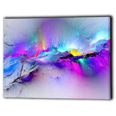 #Abstract canvas framed multi #coloured - new wall art prints gift - #ready to ha,  View more on the LINK: http://www.zeppy.io/product/gb/2/111947751143/
