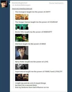 Yes, fandoms are good.