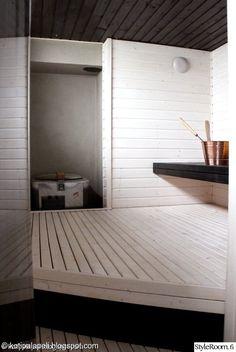 sauna,kupari,ennen/jälkeen,remontti,betoniseinä