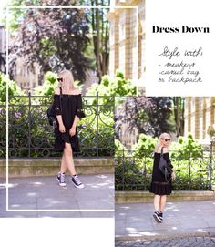 off shoulders dress boho outfit #boho #outfit #sneakers #celine #converse #ootd #blogger