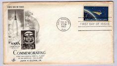 "USA 1962 FDC Commemorating First Orbital Flight ""John H. Glenn Jr"",W/ Incert"