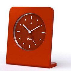 PUNKT Alarm Clock by Jasper Morrison (red, white, black)