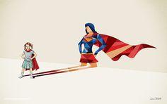 Artista captura o herói dentro de cada criança com série de ilustrações (FOTOS)