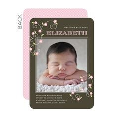 Blossoming Frame Birth Announcements