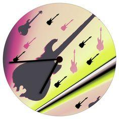 Gitaar Uhr MWL Design NL   von Wohndesign und Accessoires MWL Design NL auf DaWanda.com