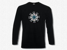 T-shirt Men Long Sleeve Mandala III  T-shirt Men by KLogShirts