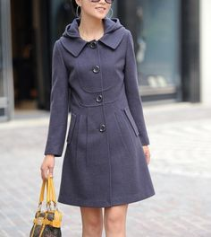 LOVE! wool crowd style hoodie coat by FashionColours on Etsy, $82.00