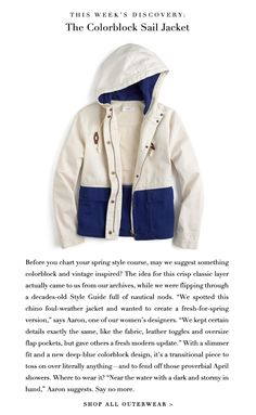 JCrew.com/ need this just in case i learn to sail this summer :)