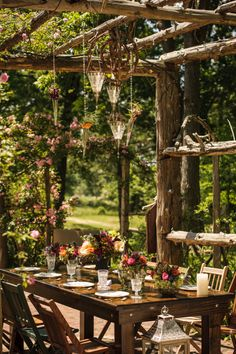 Rustic and Romantic Brunch Wedding | Lovely and Light | See More! http://heyweddinglady.com/southern-garden-wedding-brunch-in-jewel-tones-fr...