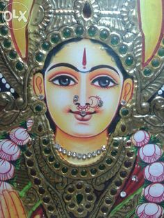 Painting canvas diy tutorials style 66 Ideas for 2019 Mysore Painting, Tanjore Painting, Jr Art, Madhubani Art, Indian Folk Art, Indian Art Paintings, Outline Drawings, Diy Painting, Painting Canvas