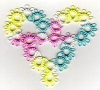 Tat-a-Renda: Free Patterns - Hearts (Site has many free tatting patterns!)