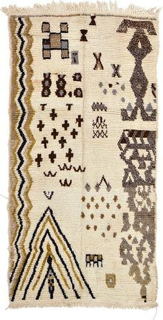 Ivory Tribal Moroccan Area Rug