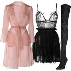 Blush & Black by carolineas on Polyvore featuring moda, Alexander McQueen, MaxMara and Balmain