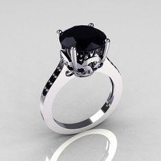 Klassische 14K Weißgold 35 Carat Black Diamond von artmasters