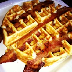 Bacon in a Waffle ! Was delicious !