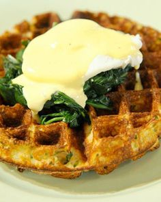 Easter Waffles Florentine Recipe