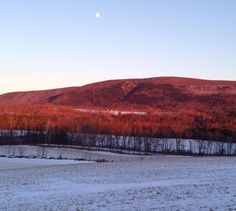 Winter-scape from looking east from the Studio #vt #vermont #greenmountains #winter #mountains #fullmoon