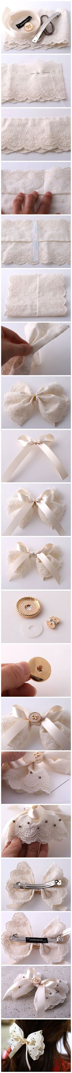 Cute hair bow DIY!                                                                                                                                                                                 Mais