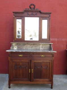 French Antique Dresser Washstand Commode 1900