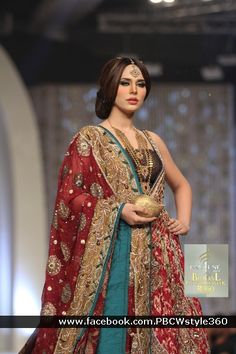 Pakistan Pantene Bridal Couture Week 2013 via Jewel Time Pakistan Pakistani Formal Dresses, Pakistani Party Wear, Pakistani Girl, Pakistani Outfits, Indian Dresses, Indian Outfits, Pakistani Clothing, Pakistani Jewelry, Bridal Outfits