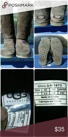Ugg Bailey Button Triple Good used condition. Has wear and will need some cleaning but structurally in very good condition. Size 7. If you have any questions please contact me before you buy. UGG Shoes Winter & Rain Boots