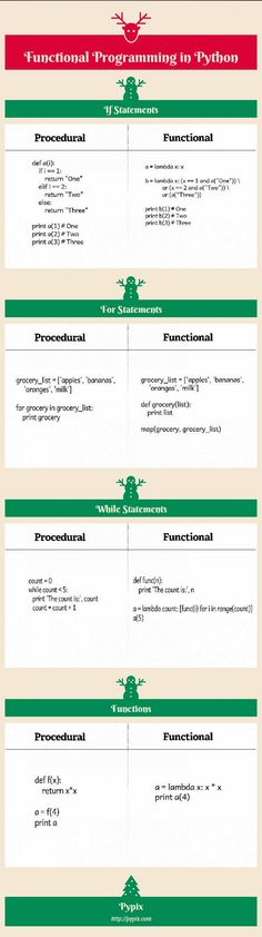 function programming and procedural programming in python