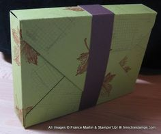 Card Box made with Stampin'Up! Envelope Punch Board