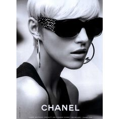 Chanel Eyewear Ad Campaign Spring/Summer 2008 Shot #7 ❤ liked on Polyvore