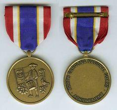 The OMSA Medal Database - Achievement Medal - North Carolina National Guard - OMSA