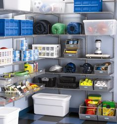 The Container Store  Platinum elfa Garage Shelving and Storage