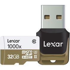Lexar Professional 1000x microSDXC 64GB (Up to 150MB/s Read) W/ USB 3.0 Reader